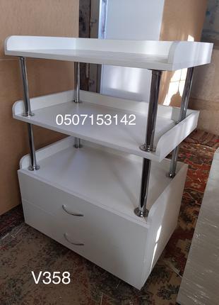Косметологическая тележка, столик на колесах Модель V358-1114