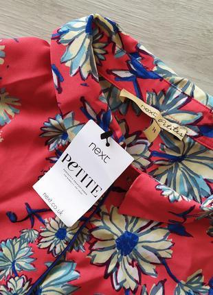 Блуза яркая в цветочный принт