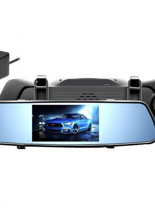 """Видеорегистратор зеркало на 2 камеры сенсорный экран 5"""" DVR X10"""