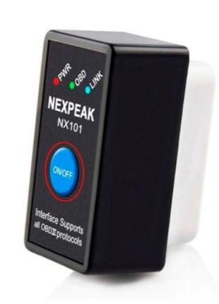 Автомобильный адаптер с поддержкой  Bluetooth OBD2 ELM327