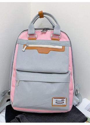 Рюкзак, городской рюкзак, серый. люкс.
