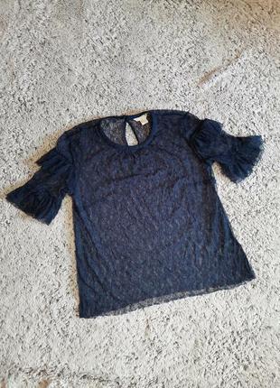 Блузка гипюровая, блузка кружевная, блуза прозрачная, блузка с...