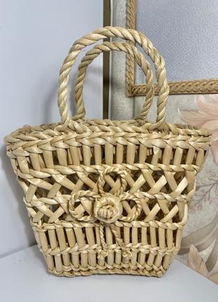 Плетеная летняя сумка
