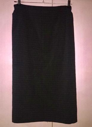 Классическая юбка карандаш большого размера  22 серая в мелкую...