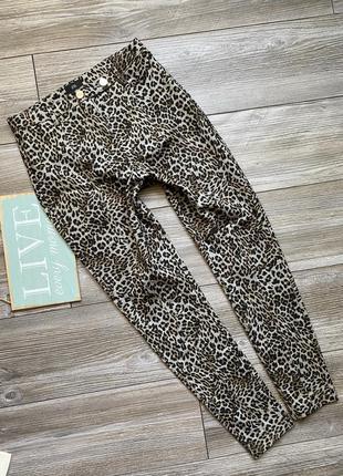 Джинсы брюки леопард river island 10r