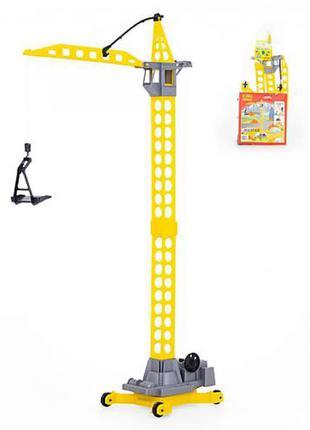 "Игрушка Polesie башенный кран ""Агат"" на колёсиках"