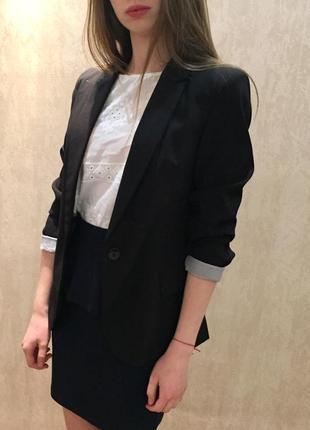 Пиджак женский, чёрный stradivarius