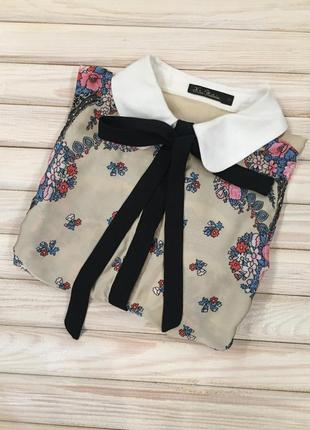 Блузка, рубашка, безрукавка шелковая