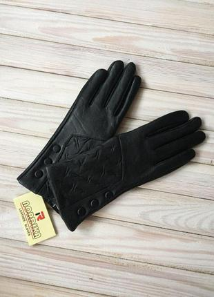 Женские модные, кожаные перчатки, утеплённые на плюше