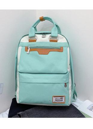 Рюкзак, городской рюкзак, зеленый. люкс.