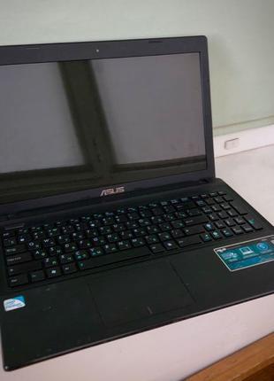 Ноутбук Asus X55A + новый блок питания, б/у аккумулятор в подарок