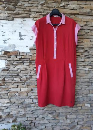 Милое с карманами платье рубашка большого размера