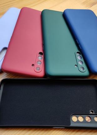 Чехол силиконовый с микрофиброй Realme C3 5 5i 6 x50 Pro Onepl...