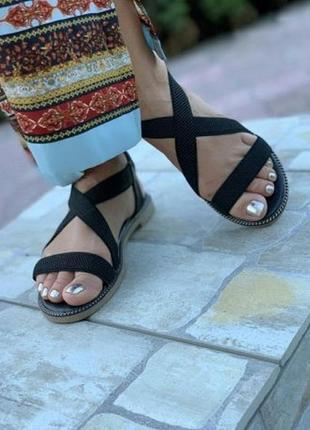 Последний размер ! черные босоножки сандалии