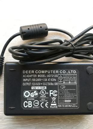 Блок питания 12V 5A 60W (AD7212G)