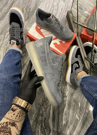 Кроссовки Nike Air Force Luxury Suede Grey