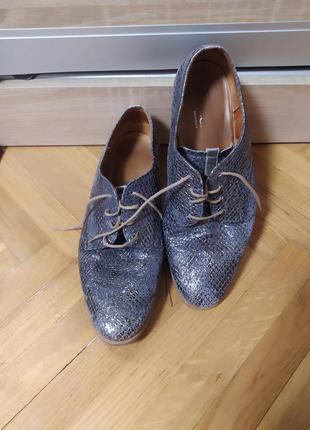 Комфортные кожаные туфли броги от gabor,p. 7 (39-40)