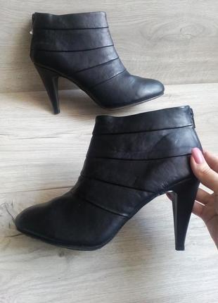 Черные ботильоны ботинки полусапоги