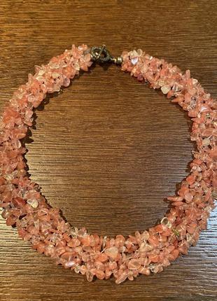 Ожерелье, бусы из натурального камня