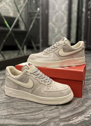 Кроссовки  nike air force luxury suede light grey