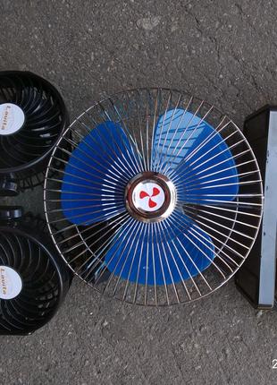 Вентилятор салона автомобильный одинарный и двойной 12В и 24В