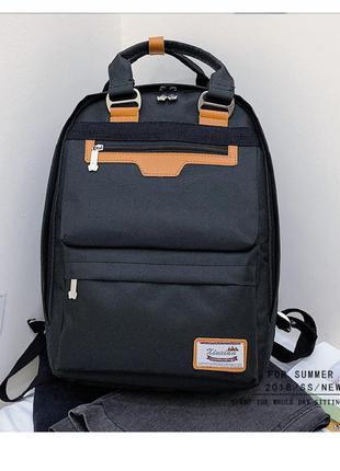 Рюкзак, городской рюкзак, черный. люкс.