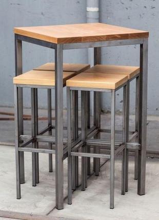Барний стілець, стіл комплект меблів лофт на замовлення