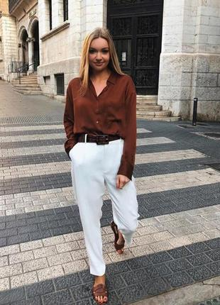 Блуза вискоза цвет корица