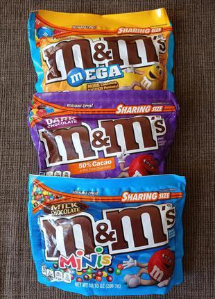 Драже конфеты M&M`S с шоколадом, большим арахисом SHARING SIZE