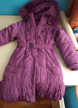 Куртка детская. Удлиненная. Пальто на синтепоне.