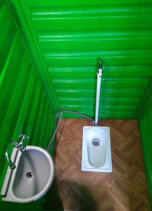 Туалетная кабина укомплектованная. Биотуалет