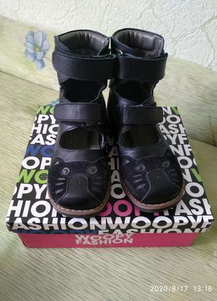 Ортопедические высокие туфли (берцы) кожа полностью 31 32 размер