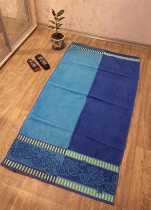 Огромнейшее полотенце с рыбками 80 х 150 см .полотенце для ван...