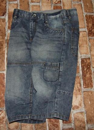 Джинсовые шорты бермуды 13-14 лет