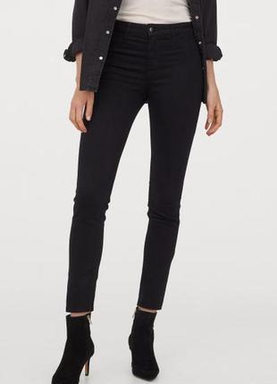 H&m джинсы черные super skinny, скинни, узкие, обтягивающие, з...