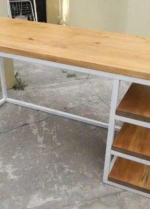 Стіл масивний офісний лофт, стіл на змовлення, стіл лофт