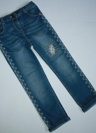 Стильные модные джинсы для девочки 4-5 лет от matalan