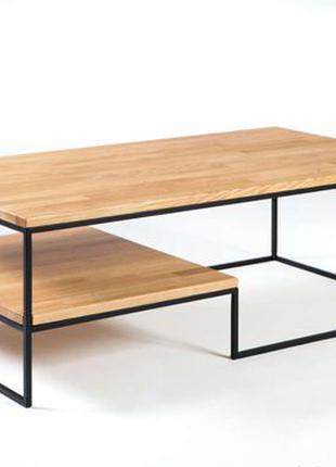 Журнальний столик з поличкою лофт, столик на замовлення
