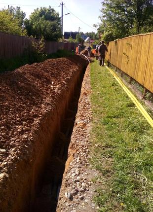 Земельные работы Копка Рытьё траншей септик ямы выгребных выкопат