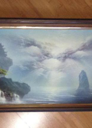 Картина с объемными рельефными  выступающими элементами