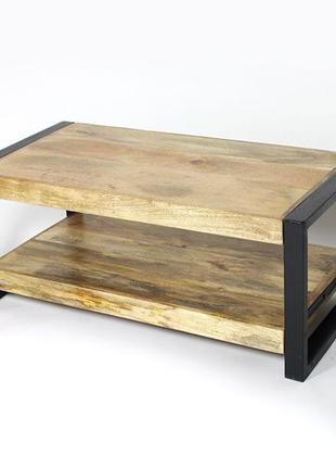 Масивний журнальний стіл, журнальний стіл на замовлення лофт