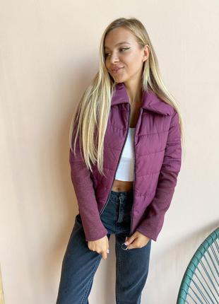 Куртка женская фиолетовая рукава манжет