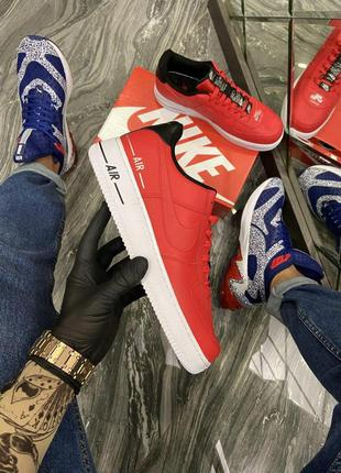 Мужские кроссовки nike air force 1 low red white