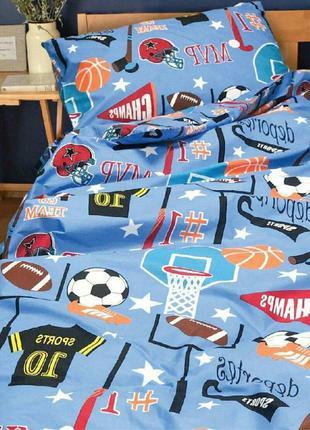 Комплект подросткового постельного белья футбол