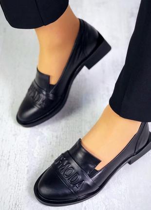 Натуральная кожа эксклюзивные кожаные туфли на квадратном кабл...
