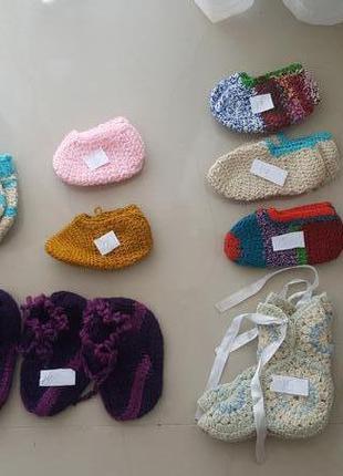 Теплые красивые носки вязаные ручной работы
