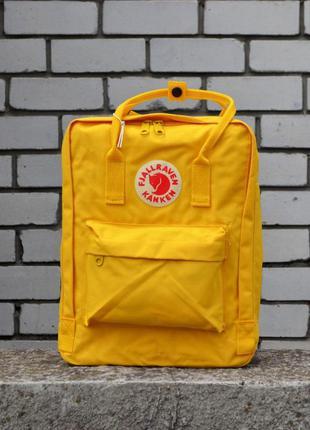 Рюкзак городской fjallraven kanken yellow classic портфель канкен
