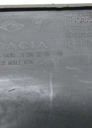 Заглушка магнитолы Dacia Logan