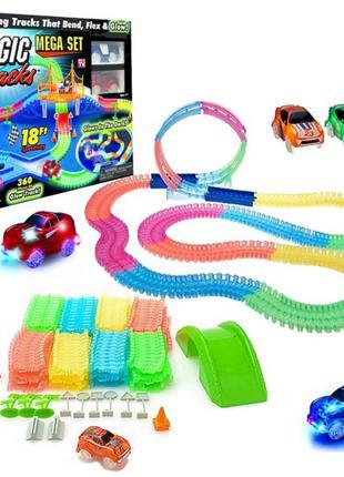 Гоночная трасса конструктор детский Magic Tracks 360 деталей