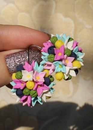 """Серьги """"букет цветов"""""""